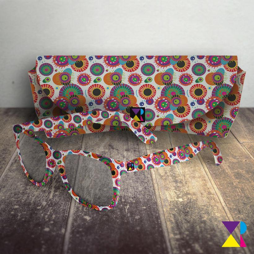 """Diseño de estampado para gafas y funda a juego - Proyecto del curso """"Motivos para repetir"""" 0"""