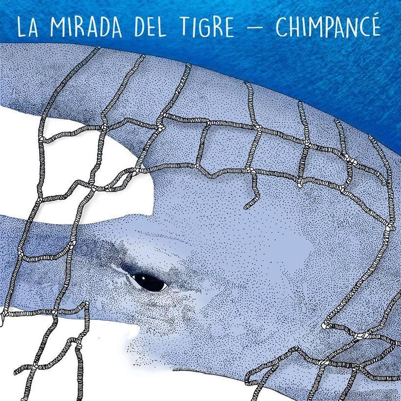Ilustración Split La mirada del Tigre/ Chimpancé 0