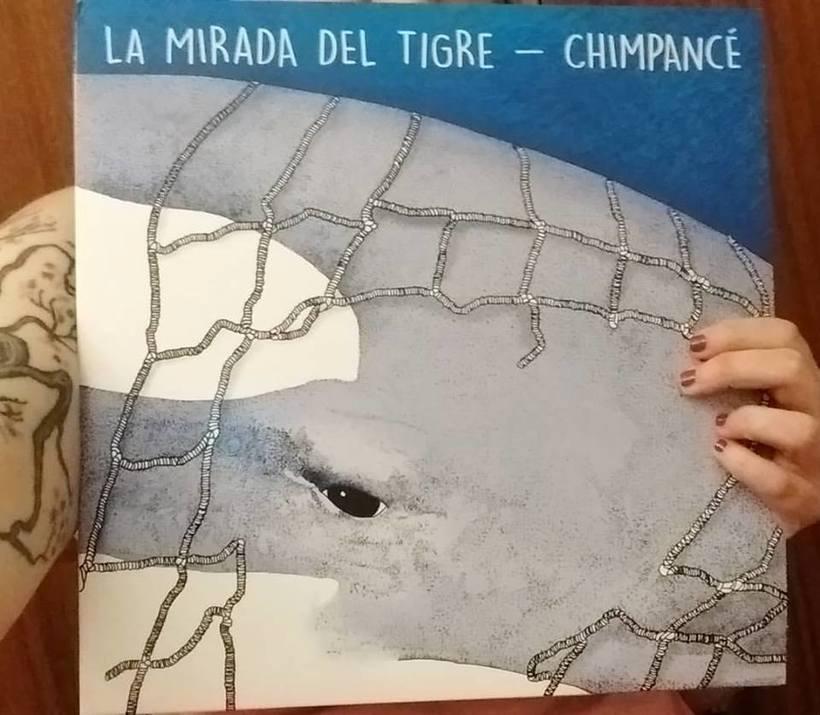 Ilustración Split La mirada del Tigre/ Chimpancé 3