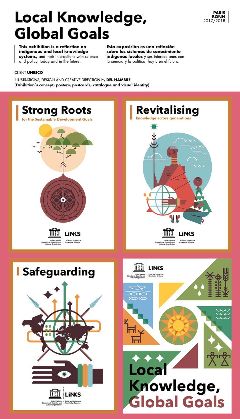 UNESCO 18 posters ilustrados EXPOSICIÓN ITINERANTE 0