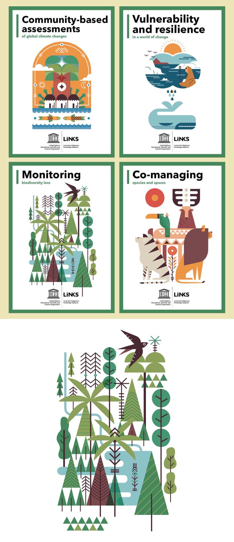 UNESCO 18 posters ilustrados EXPOSICIÓN ITINERANTE 4