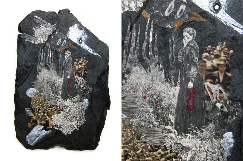 Asteroides. Collage en piedra. 0