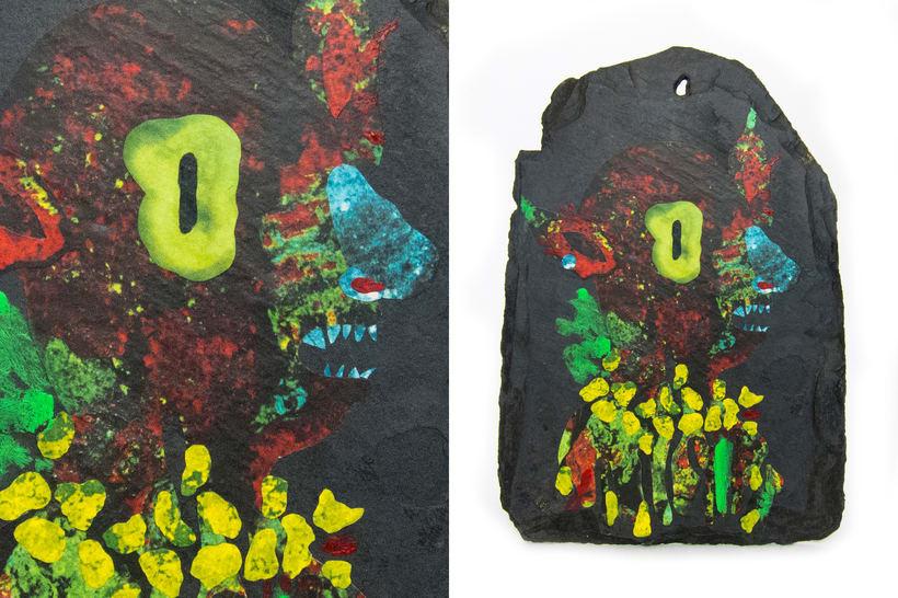Asteroides. Collage en piedra. 3
