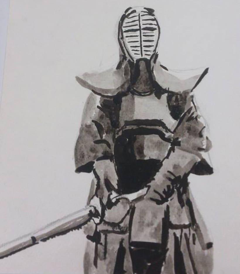 Kendo style Ukio-e -1