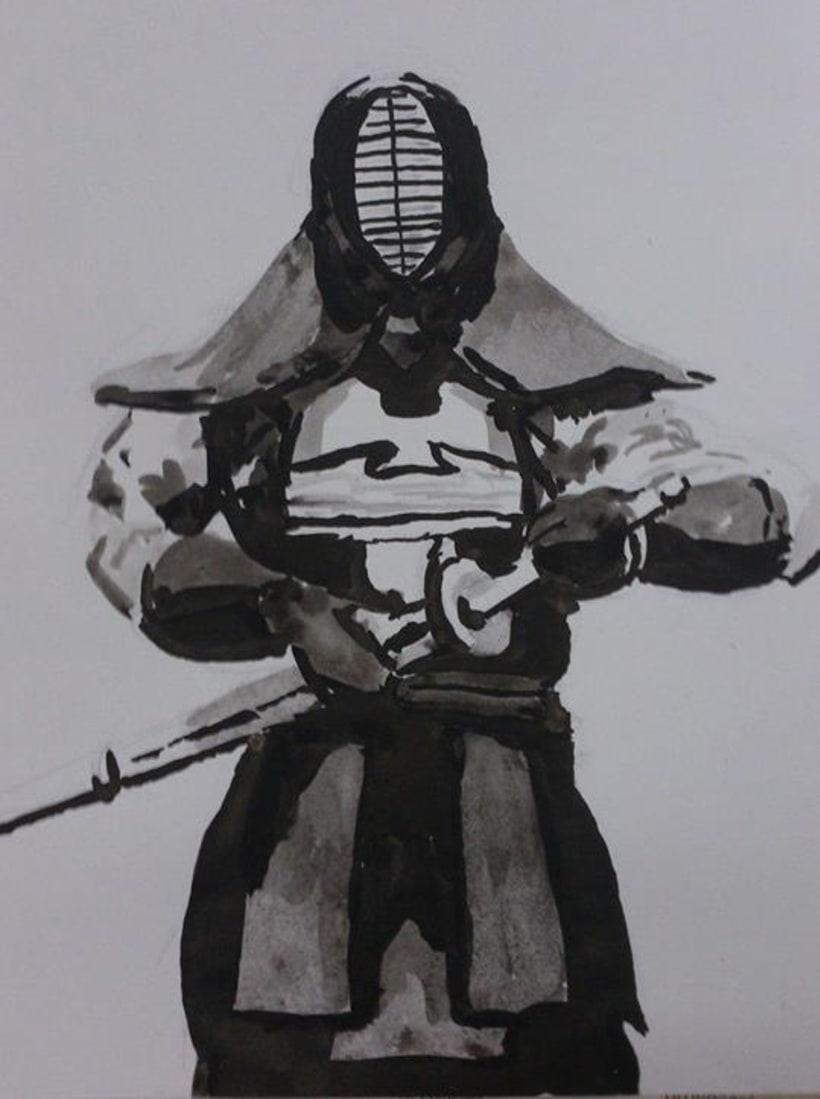Kendo style Ukio-e 2