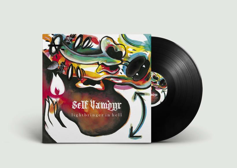 """Portada del single """"Lightbringer in Hell"""" para """"Self-Vampyr"""" 0"""