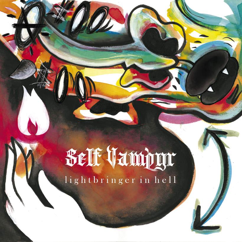 """Portada del single """"Lightbringer in Hell"""" para """"Self-Vampyr"""" 1"""
