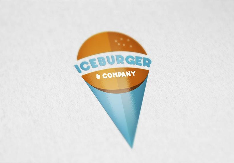 Diseño de logotipo: Iceburger -1