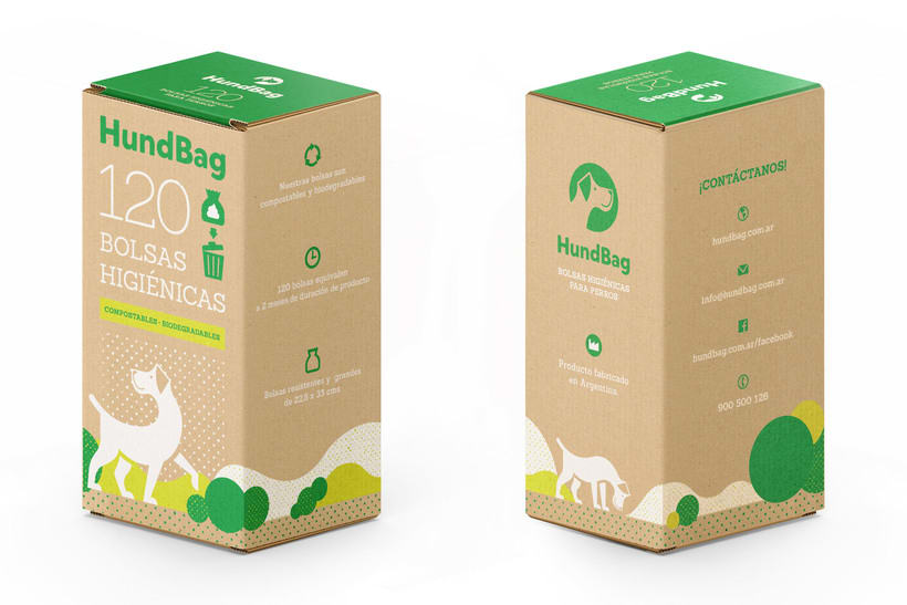 Identidad y Packaging Hundbag 2