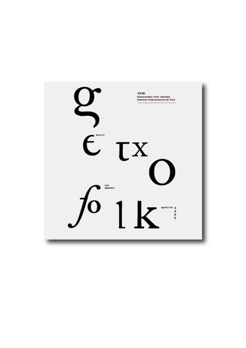 Rediseño de producto Editorial - Folleto informativo Getxo Folk 0