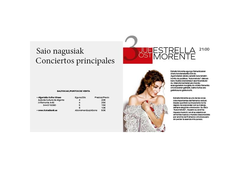 Rediseño de producto Editorial - Folleto informativo Getxo Folk 1