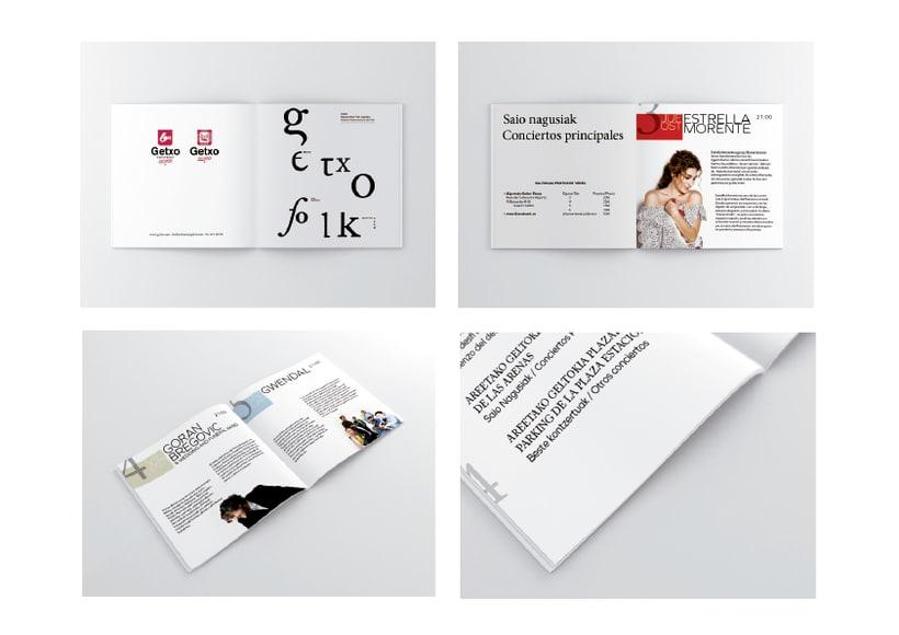 Rediseño de producto Editorial - Folleto informativo Getxo Folk 4