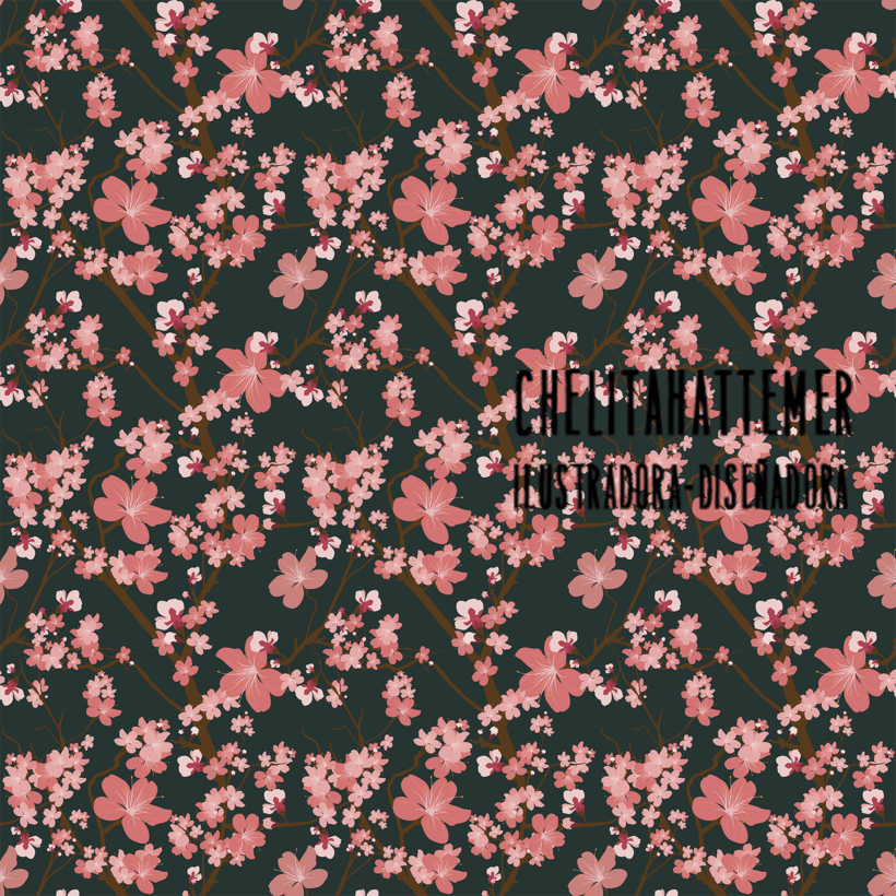Patterns textil flower ja -1