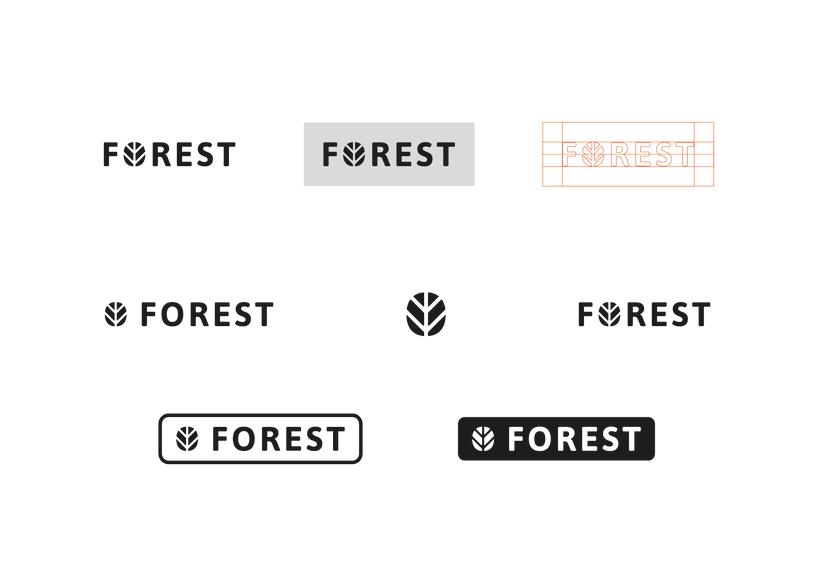 FOREST, diseño de identidad gráfica y marca 2