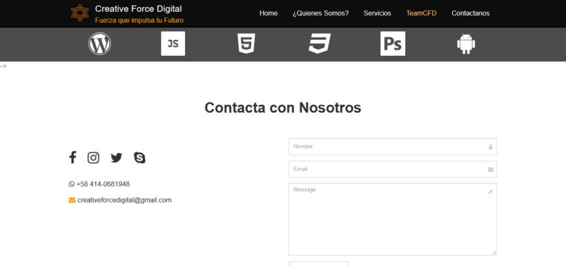 Web de CreativeForceDigital -1