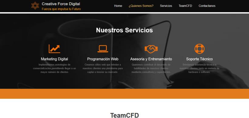 Web de CreativeForceDigital 0