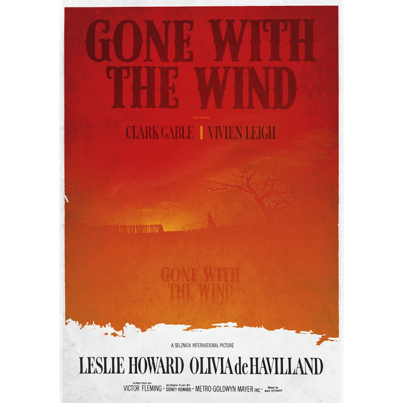 GONE WITH TE WIND. Poster -1