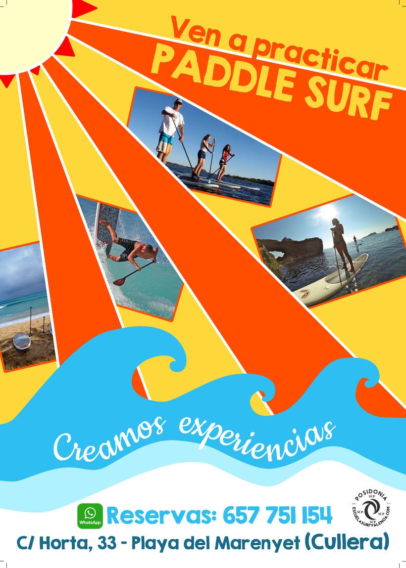Cartel publicitario Paddle Surf - Cullera 0