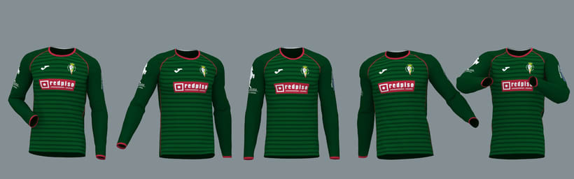 "Model, Texture & Illumination: ""C.D. Parque Verde"" kit season 2017/2018 2"