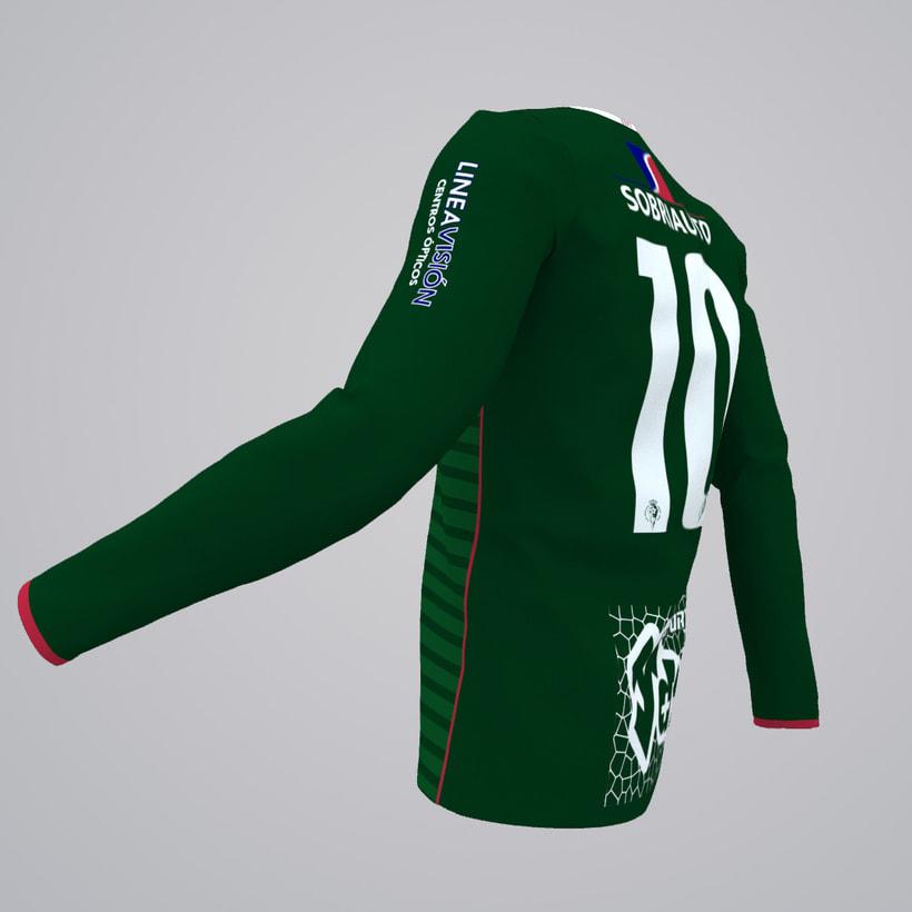 "Model, Texture & Illumination: ""C.D. Parque Verde"" kit season 2017/2018 3"