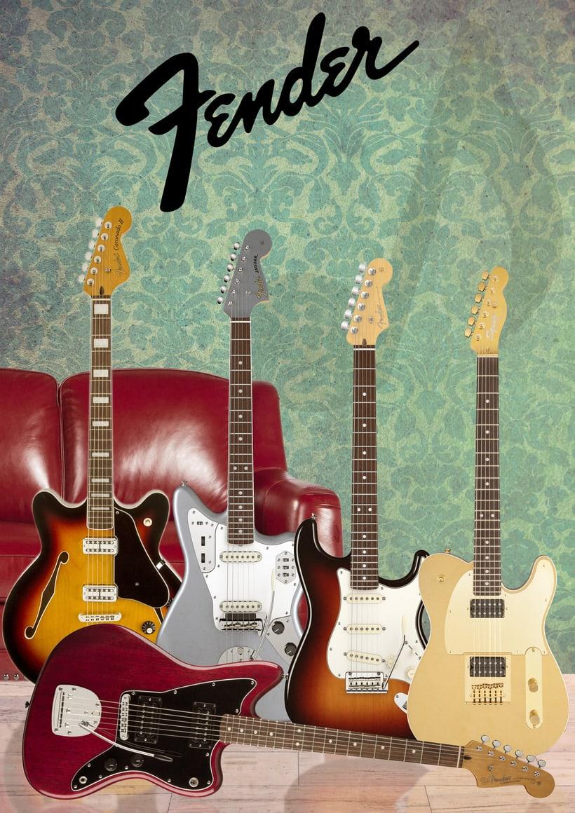 Cartel publicitario Guitarras Zender -1