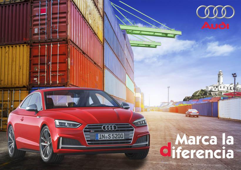Cartel publicitario Audi -1