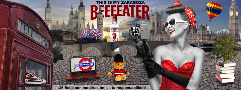 Cartel publicitario Beefeater -1