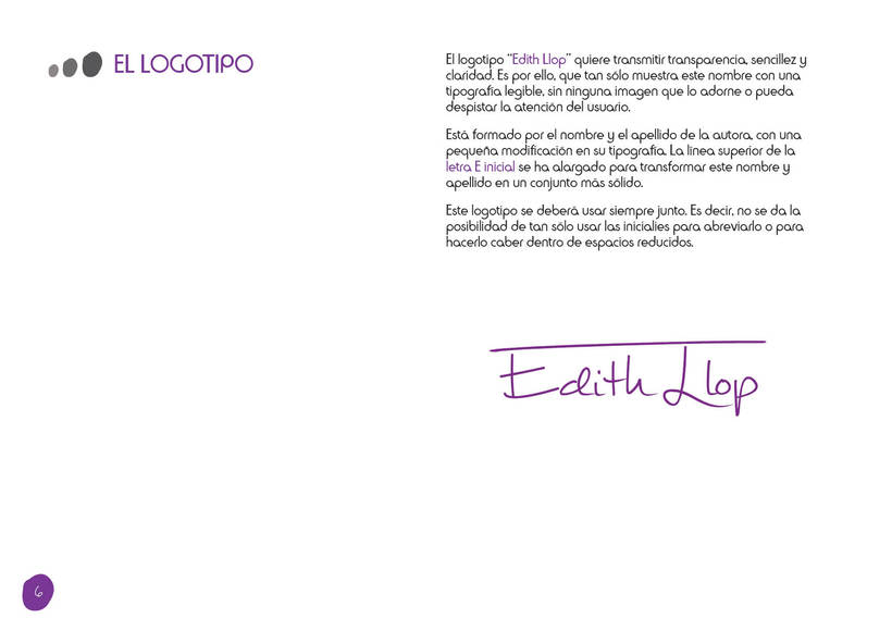 Manual de Identidad Corporativa - Edith Llop 4