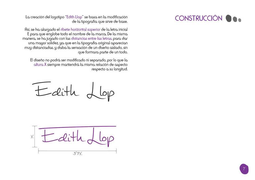 Manual de Identidad Corporativa - Edith Llop 5