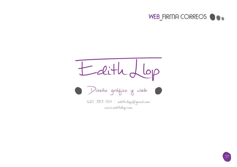 Manual de Identidad Corporativa - Edith Llop 35