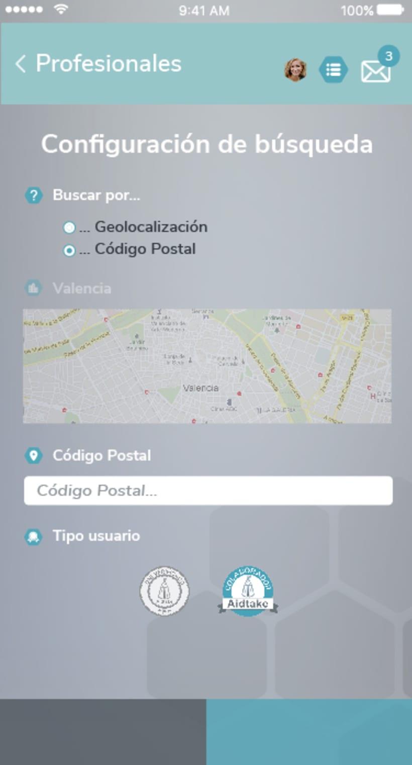 Diseño app Aidtake 9