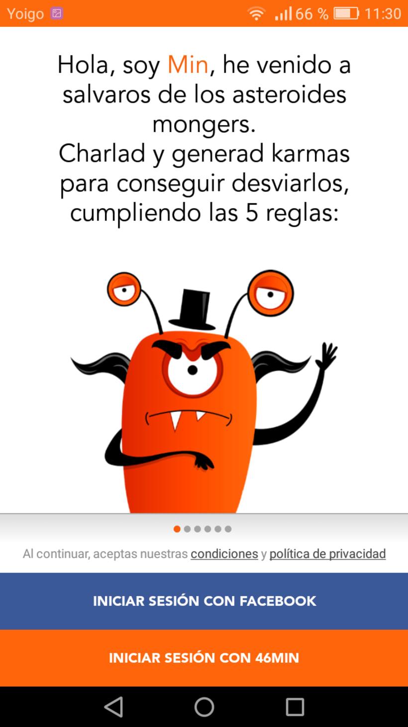 """Diseño de Aplicación """"46min"""" y publicidad on line 0"""