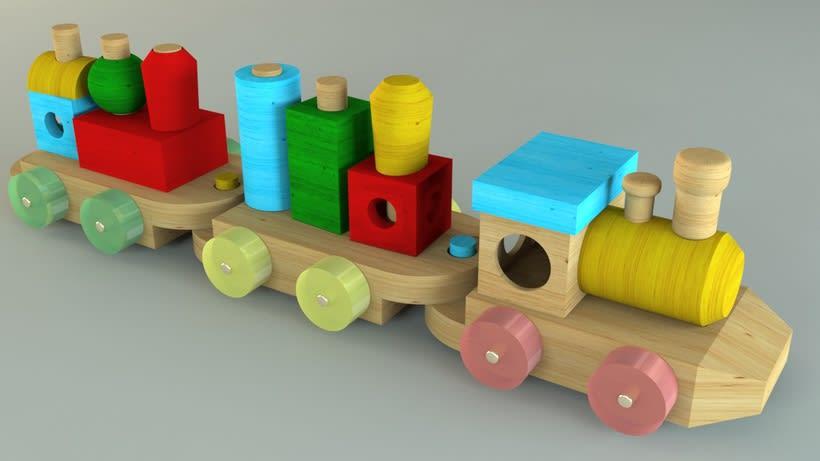 Tren de juguete en 3D -1