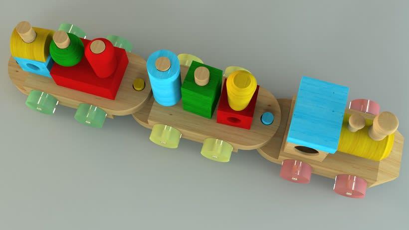 Tren de juguete en 3D 1