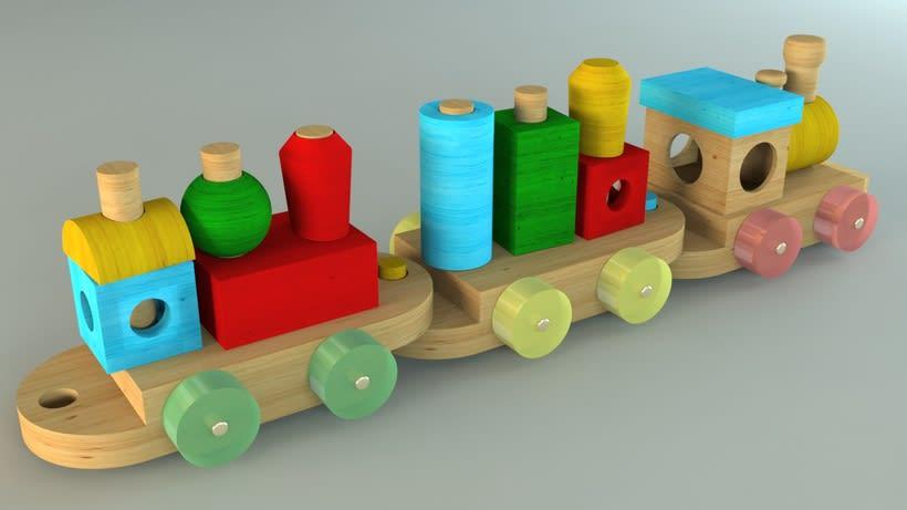 Tren de juguete en 3D 2