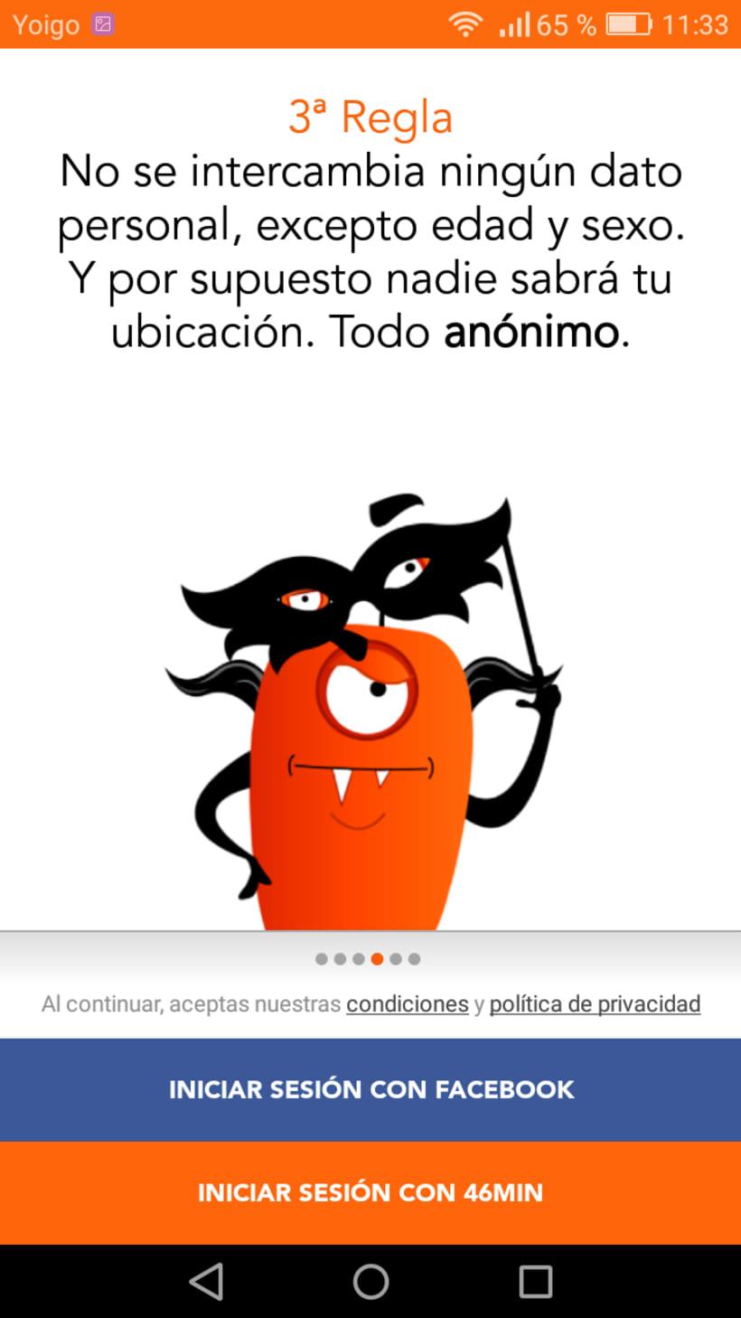 """Diseño de Aplicación """"46min"""" y publicidad on line 3"""