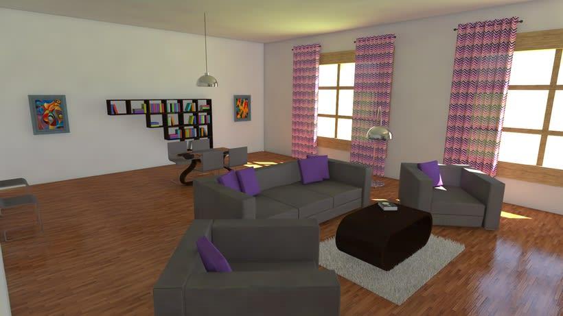 Habitación realista en 3D -1