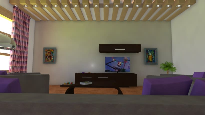 Habitación realista en 3D 0
