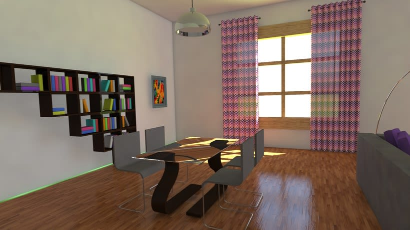 Habitación realista en 3D 1