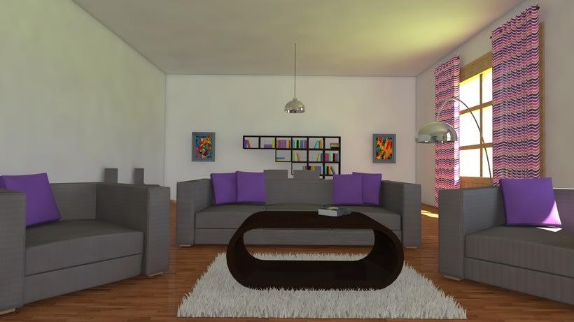 Habitación realista en 3D 2