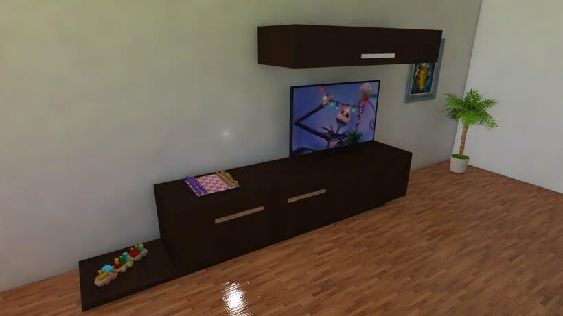 Habitación realista en 3D 3