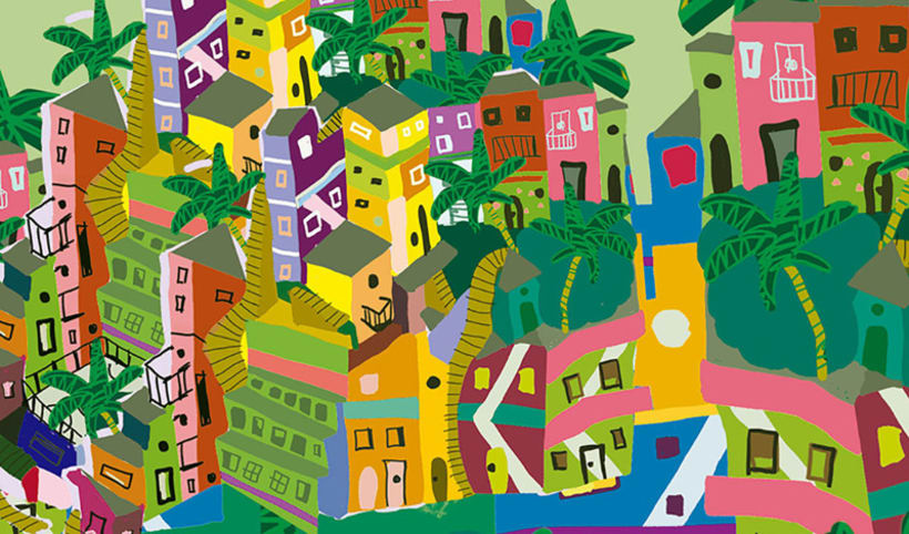 Mapa Ilustrado de Río de Janeiro. -1