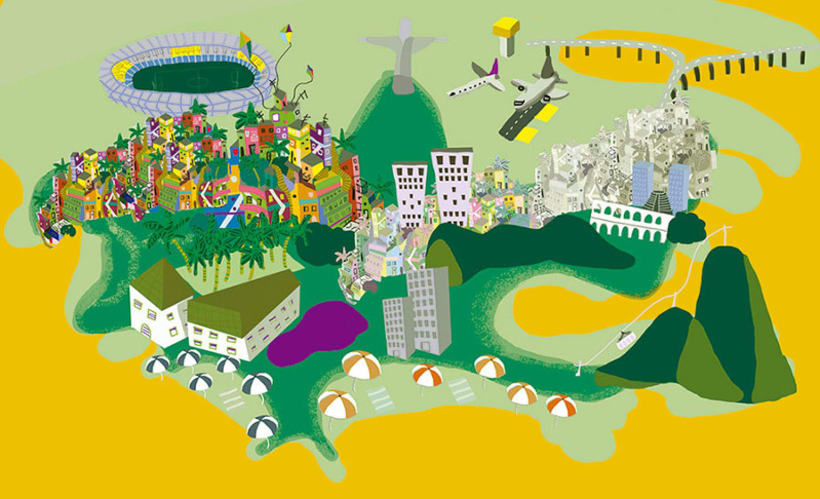 Mapa Ilustrado de Río de Janeiro. 2
