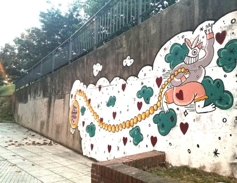 """Mural """"Nunca es demasiado tarde"""" para Parees Fest Oviedo 1"""