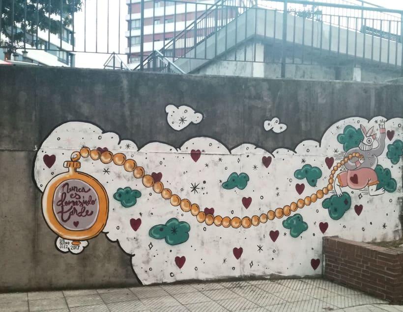 """Mural """"Nunca es demasiado tarde"""" para Parees Fest Oviedo 2"""