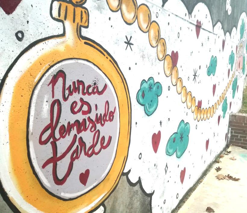 """Mural """"Nunca es demasiado tarde"""" para Parees Fest Oviedo 4"""
