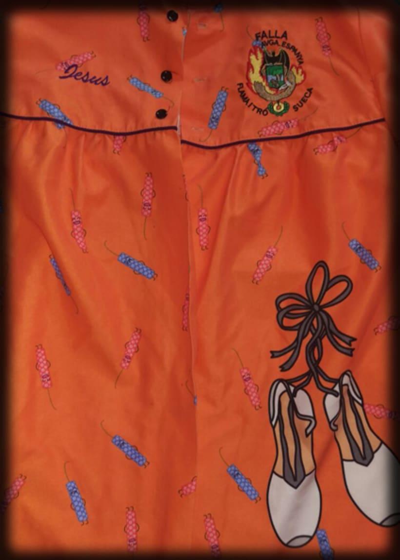 Diseño textil - Brusones falleros 3