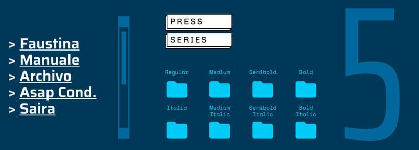 Press Series, las tipografías libres de Omnibus-Type 1
