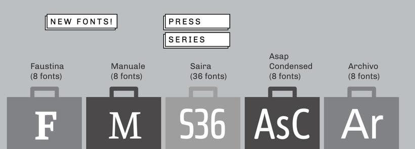 Press Series, las tipografías libres de Omnibus-Type 5