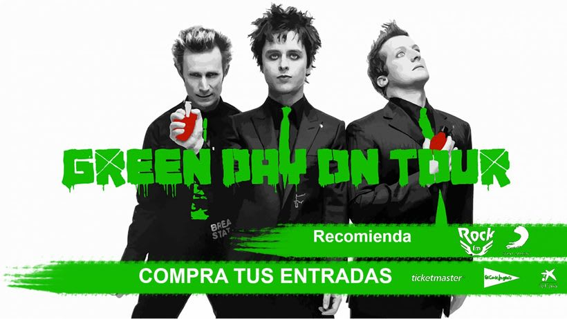 Cartel de gira Green Day -1